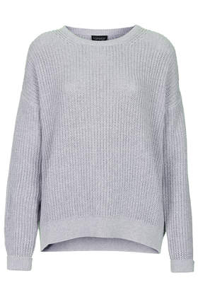 Slouchy Grunge Ribbed Jumper - Topshop