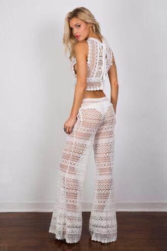 pants bottoms cover up print white bikiniluxe