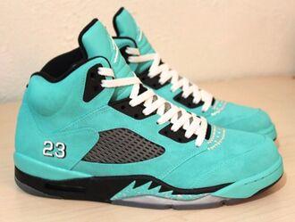 shoes mint air jordan air jordan 5 tiffany tiffany&co