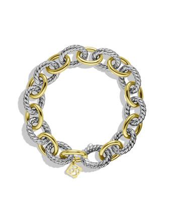 David Yurman Oval Large Link Bracelet with Gold - Neiman Marcus