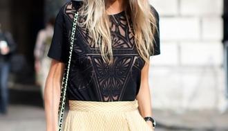 blouse streetstyle fashion details black blouse poppy delevigne shirt black lace lace see through cute