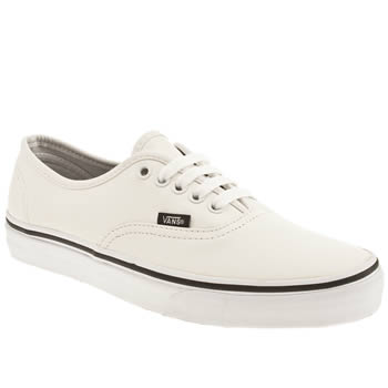 Men's White Vans Authentic Leather at schuh