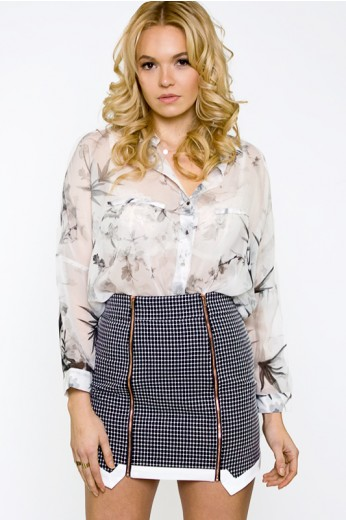 Finders Keepers Sunday Morning Skirt- $117
