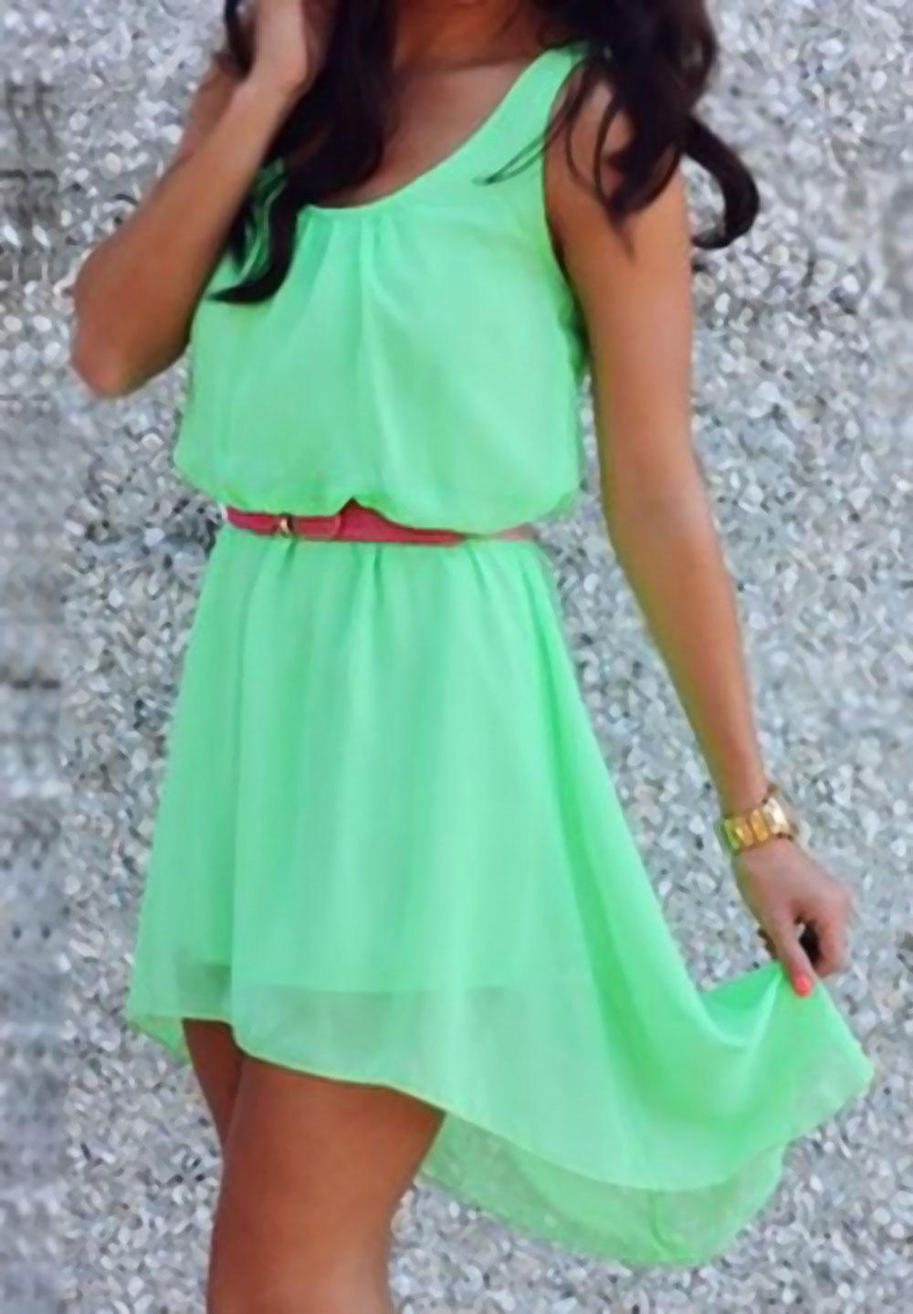 Beyond Pink Green Georgette Women - Dresses Buy Online