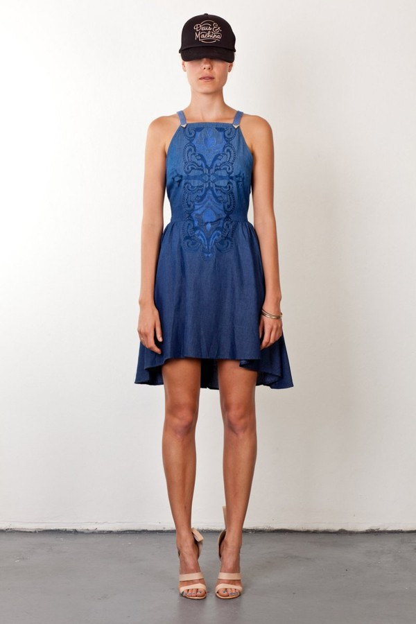 dress tumbleweeds dress by  three of something denim dress