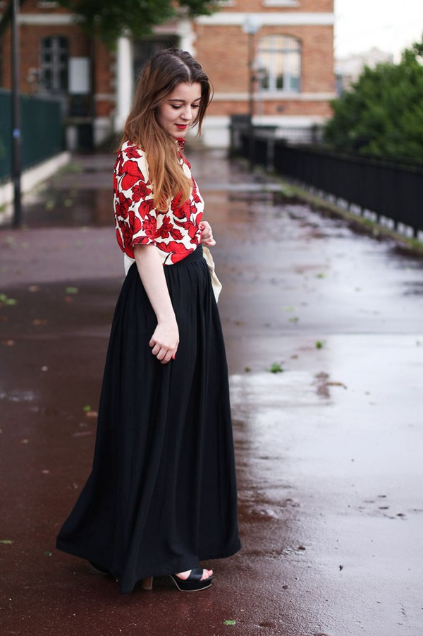 elodie in paris skirt shoes bag