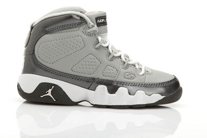 Michael Shoes: Youth Basketball Shoes with Nedium Grey/White/Cool Grey Custom -  $90.99 - marsretro.com