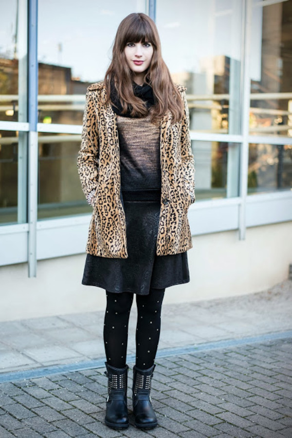 andy sparkles coat sweater skirt scarf shoes