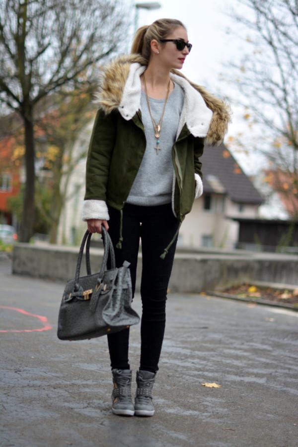 coat jacket green fashion pants shoes amazing