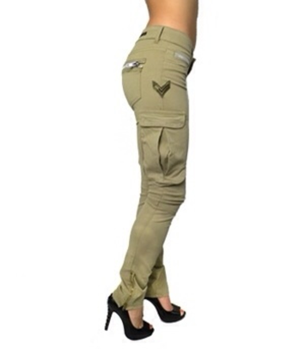 jeans cargo pants army green