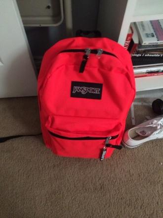 bag bright pink backpack jansport