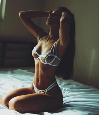 underwear lingerie nightwear white dessous