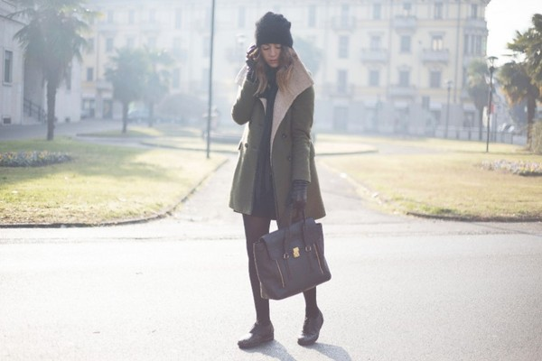 scent of obsession coat bag shoes hat