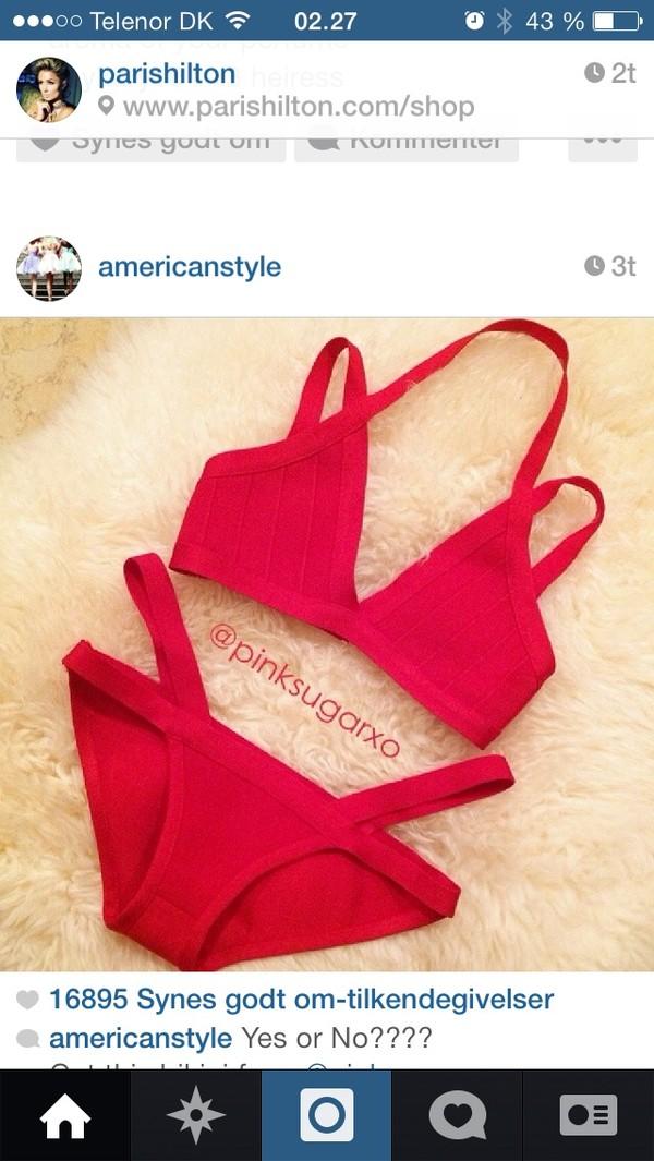 swimwear red