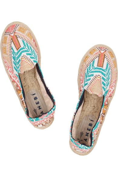 Manebi|Yucatan embroidered canvas espadrilles|NET-A-PORTER.COM