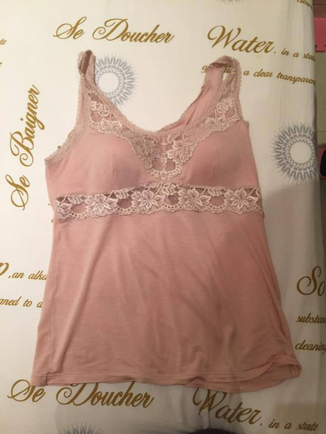 tank top clothes underwear top pink