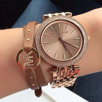 jewels watch gold brown
