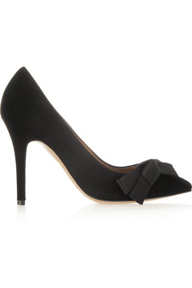 Isabel Marant | Poppy bow-detailed suede pumps | NET-A-PORTER.COM