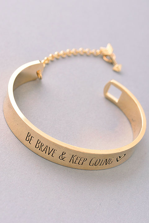 keep going bracelet be brave keep going cuff bracelet 993