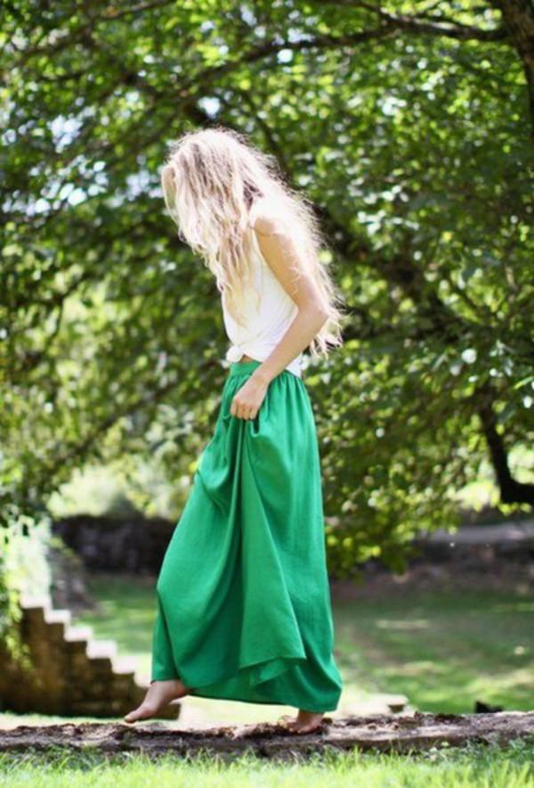 skirt maxi maxi skirt green skirt girl dress green green skirt emerald green