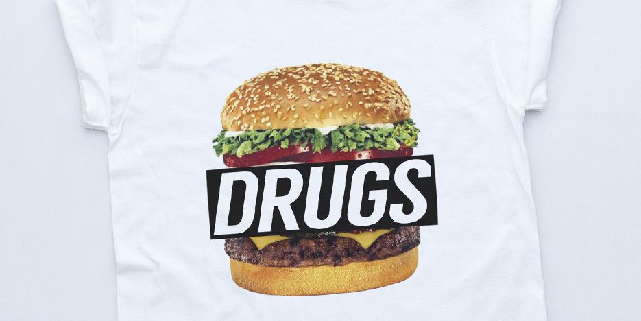 DRUGS BURGER NEW T Shirt Disobey King Streetwear Supreme Fresh Tyler Creator Tee | eBay
