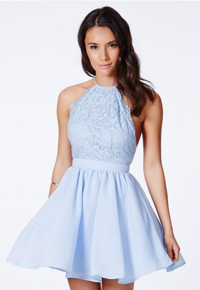 Desaree Backless Puffball Mini Dress - Dresses - Mini Dresses - Missguided