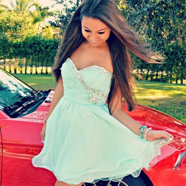 dress clothes teal prom dress