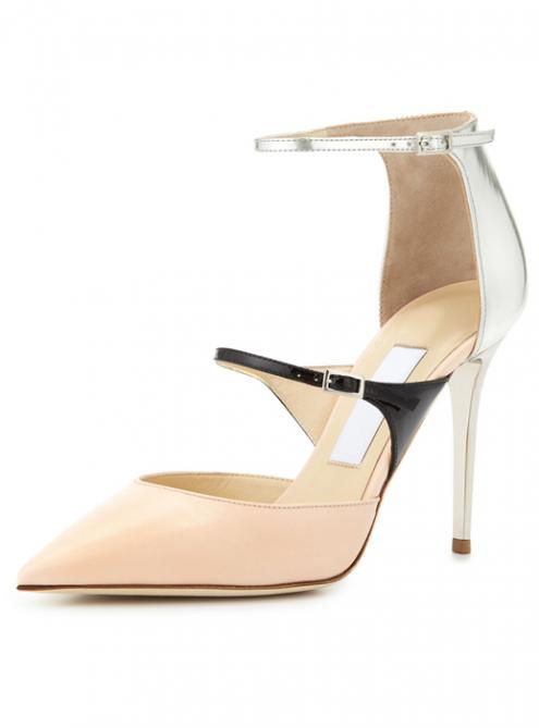 Fashion Colors Block Rome High-Heeled Shoes YSY151$179