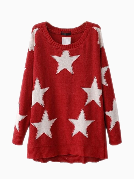 Large Star Sweater | Choies