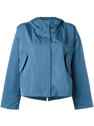 jacket rain jacket women blue silk