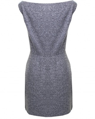 LOVE Grey Woven Wrap Over Dress With Button Detail - In Love With Fashion