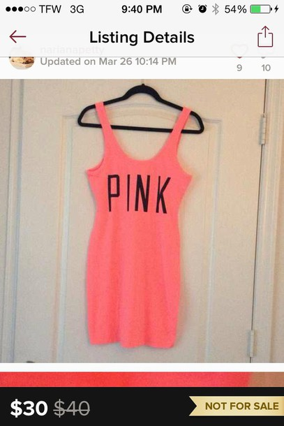 dress pink victoria secrets body con n