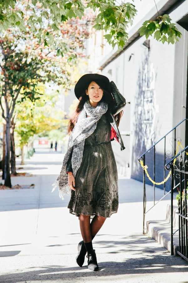 high stitched voice dress scarf shoes jewels hat