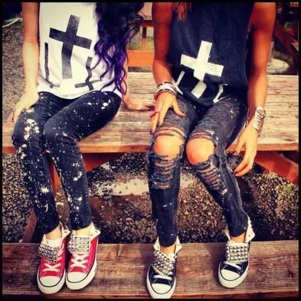 shirt jeans pants shoes jewels