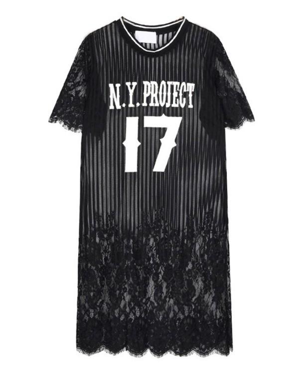 number print dress black dress lace dress streetstyle