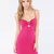 Fuchsia Ruffles Sleeveless Mini Cami Bodycon Dress : KissChic.com