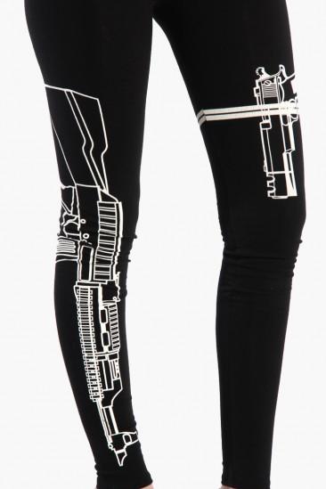 LoveMelrose.com From Harry & Molly | Machine Gun Leggings - Black