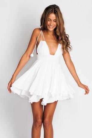Indah Ophelia Dress in white