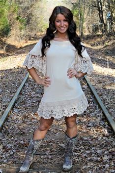 Cream Blossom Dress