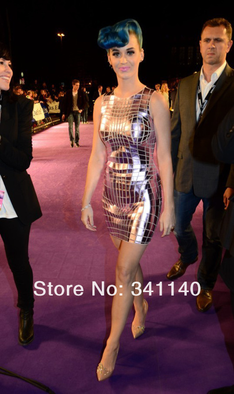 New Style August!! Rayon HL Bandage Dress Women's Sleeveless Purple Dress Katy Perry Celebrity Dress High Quality-in Evening Dresses from Apparel & Accessories on Aliexpress.com