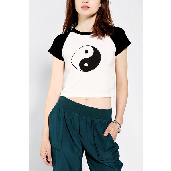 O-Mighty Yin Yang Cropped Tee - Polyvore
