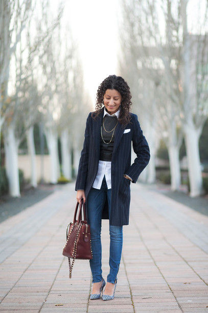 alterations needed blogger bag coat office outfits