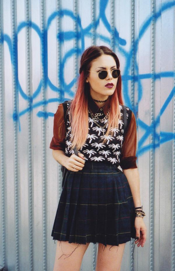 le happy skirt blouse