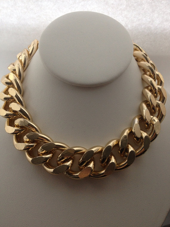 Extra Chunky Gold Chain Necklace by BlackPearlCouture on Etsy