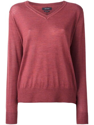 pullover women silk red sweater