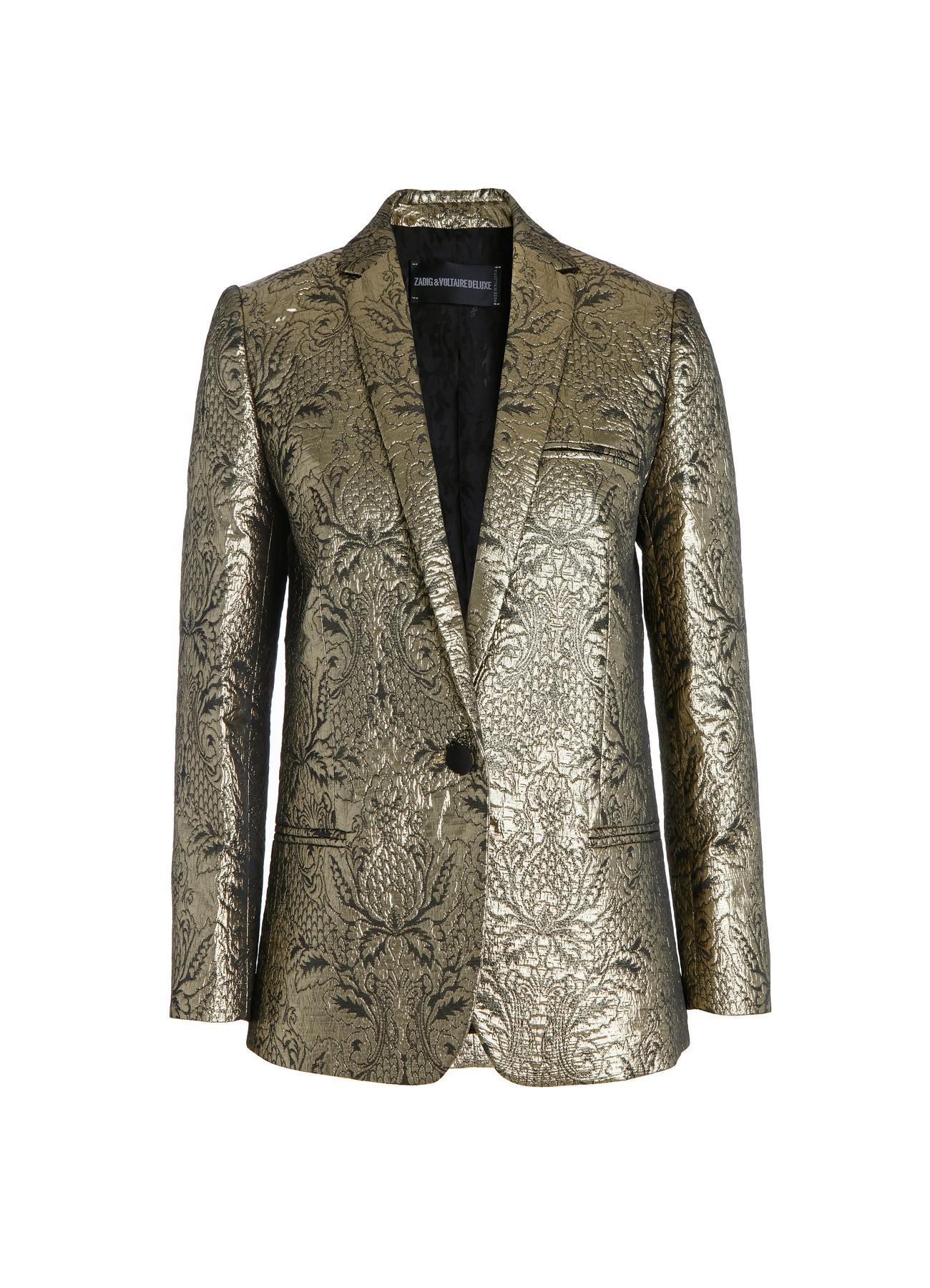 jacket for  woman volta dore deluxe gold-Zadig&Voltaire
