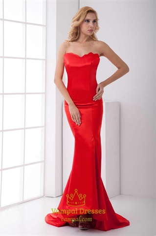 Red Mermaid Prom Dresses 2014,Slim Red Mermaid Prom Dresses   Vampal Dresses