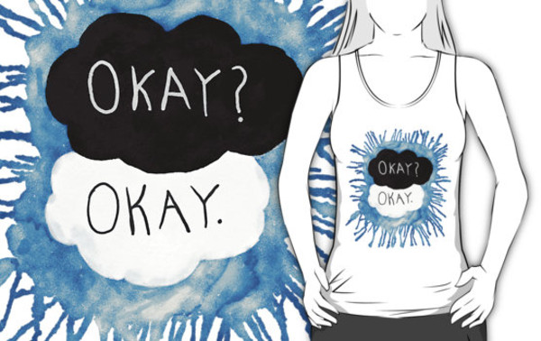 tank top the fault in our stars hazel lancaster the fault in our stars john green book augustus waters clouds