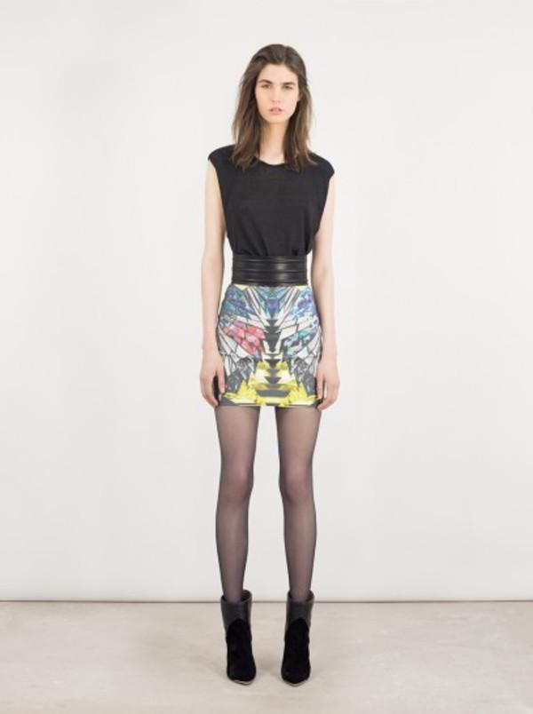 skirt iro fashion lookbook belt