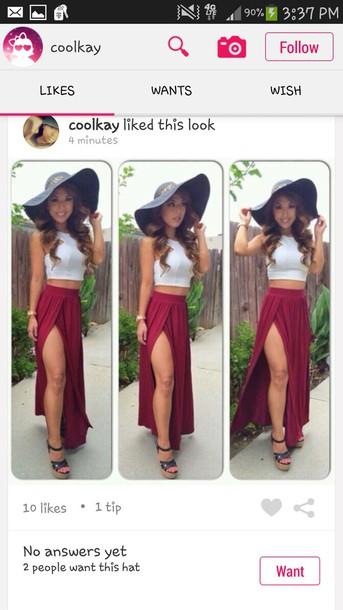 skirt red long maxi dress skirt cut